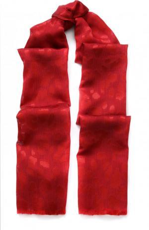Шаль с необработанным краем Emporio Armani. Цвет: красный
