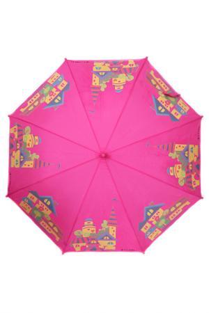 Зонт-трость Flioraj. Цвет: бордовый