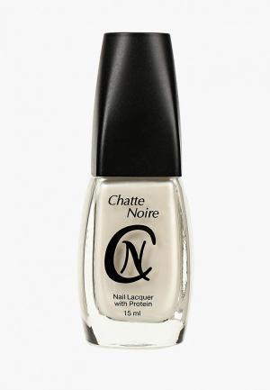 Лак для ногтей Chatte Noire. Цвет: серебряный