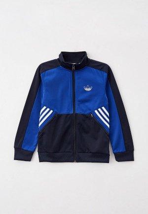 Олимпийка adidas Originals. Цвет: синий