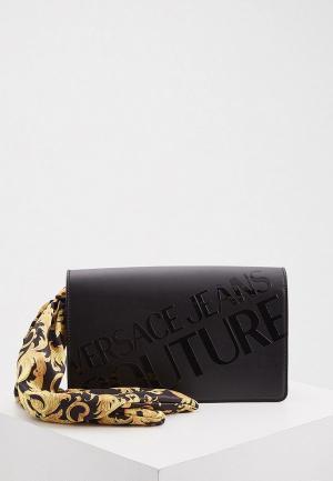 Сумка Versace Jeans Couture. Цвет: черный