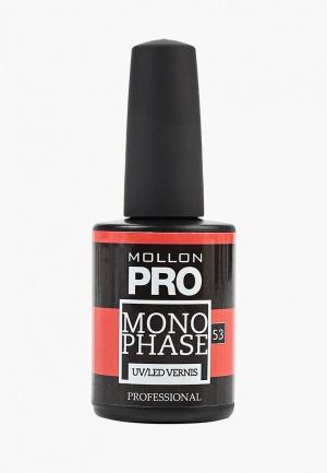 Гель-лак для ногтей Mollon Pro. Цвет: красный