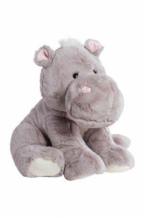 Мягкая игрушка Бегемот 60 см MOLLI. Цвет: серый