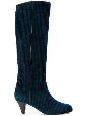Сапоги с ребристой фактурой Michel Vivien. Цвет: синий