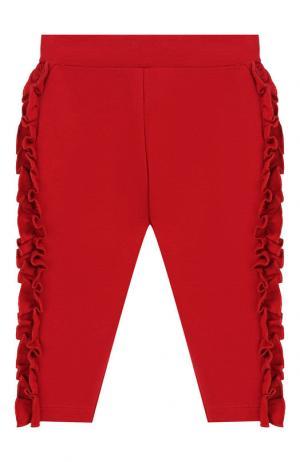 Хлопковые брюки Monnalisa. Цвет: красный