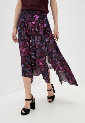 Юбка Iro. Цвет: фиолетовый