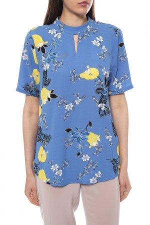 Блуза KAFFE. Цвет: голубой