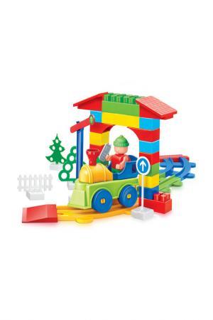 Конструктор Railway BAUER. Цвет: зеленый