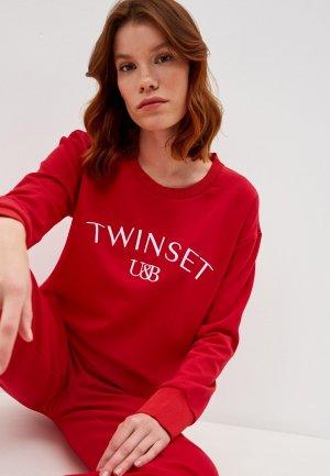 Свитшот Twinset Milano. Цвет: красный