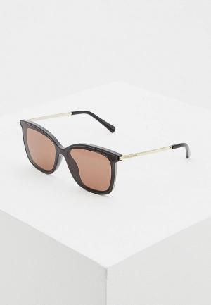 Очки солнцезащитные Michael Kors. Цвет: коричневый