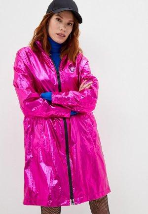 Плащ Karl Lagerfeld. Цвет: розовый