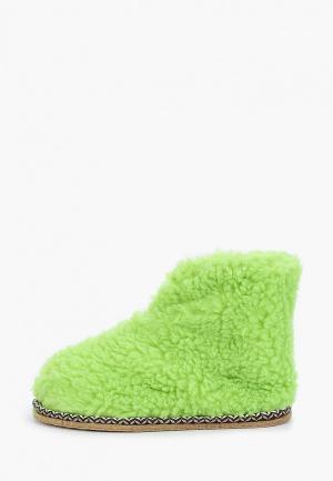 Тапочки Nobbaro. Цвет: зеленый