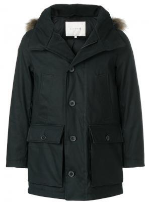 Пуховое пальто с меховой отделкой Mackintosh. Цвет: чёрный