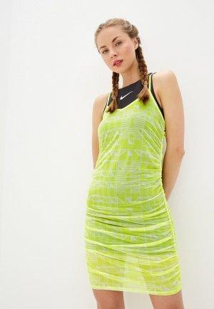 Платье Nike. Цвет: желтый