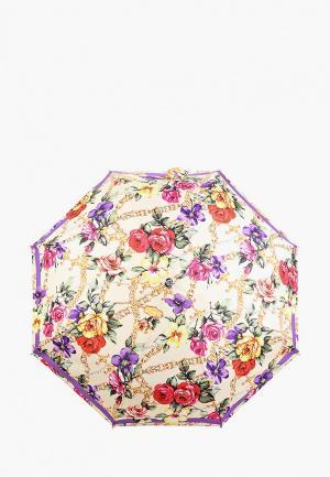 Зонт складной Boutique Moschino. Цвет: бежевый