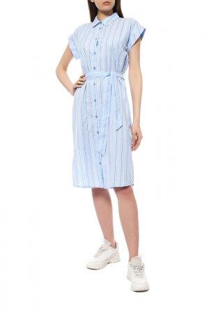Платье KAFFE. Цвет: голубой