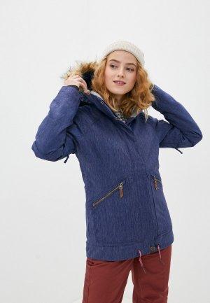Куртка сноубордическая Roxy. Цвет: синий