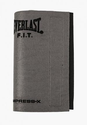 Пояс для похудения Everlast. Цвет: серый