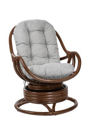 Кресло-качалка c подушкой MEBEL IMPEX. Цвет: коричнево-красный