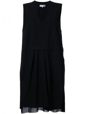 Платье с V-образным вырезом Carven. Цвет: чёрный
