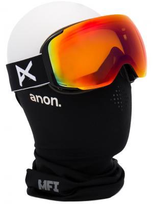 Лыжная маска M2 Anon. Цвет: жёлтый и оранжевый