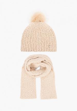 Шапка и шарф Liu Jo. Цвет: бежевый