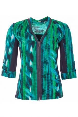 Блуза Elie Tahari. Цвет: зеленый