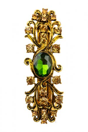 Заколка FRANSUA ARDY. Цвет: зеленый