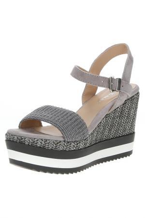 Туфли открытые ALBA. Цвет: серый