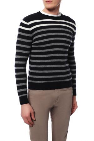 Пуловер MARINA YACHTING. Цвет: черный с серым