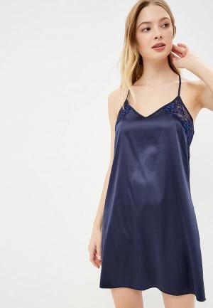 Сорочка ночная Дефиле. Цвет: синий