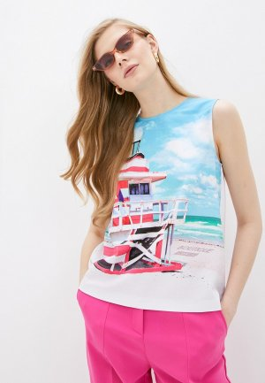 Блуза Boutique Moschino. Цвет: белый