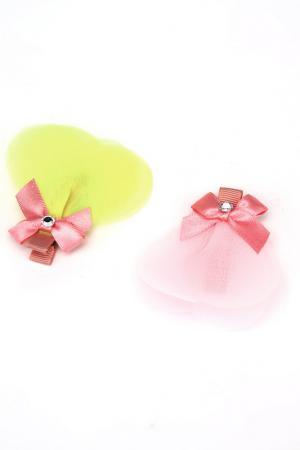 Набор заколок NICE GIRL. Цвет: розовый