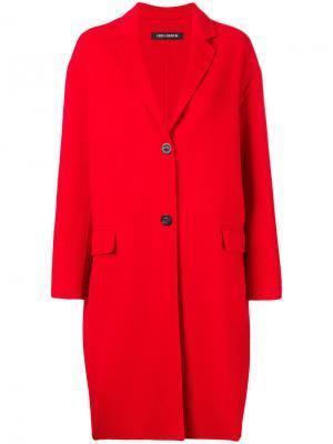 Пальто кокон Iris Von Arnim. Цвет: красный