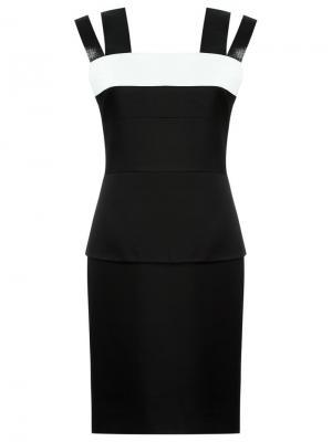 Платье с баской Gloria Coelho. Цвет: чёрный