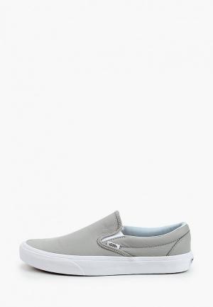 Слипоны Vans. Цвет: серый