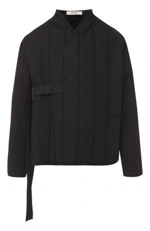 Хлопковая стеганая куртка с декоративной застежкой Damir Doma. Цвет: черный