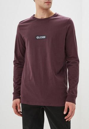 Лонгслив Globe. Цвет: коричневый