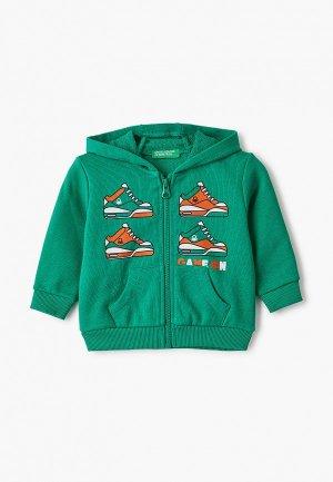 Толстовка United Colors of Benetton. Цвет: зеленый