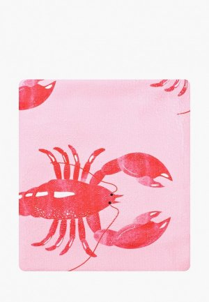 Полотенце Skinnydip. Цвет: розовый
