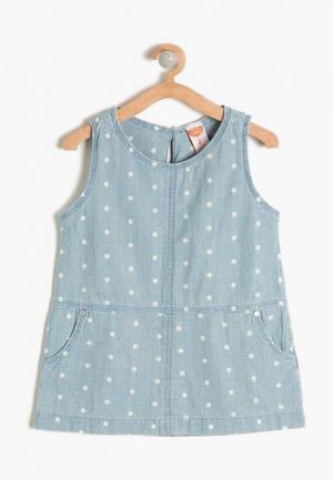 Платье Koton. Цвет: голубой