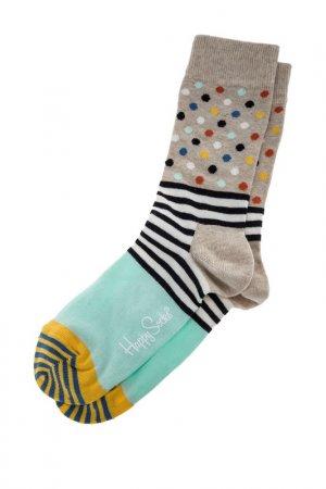 Носки HAPPY SOCKS. Цвет: бежевый