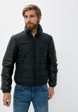 Куртка утепленная Blouson. Цвет: черный