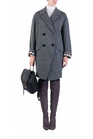 Пальто DIANE VON FURSTENBERG. Цвет: серый