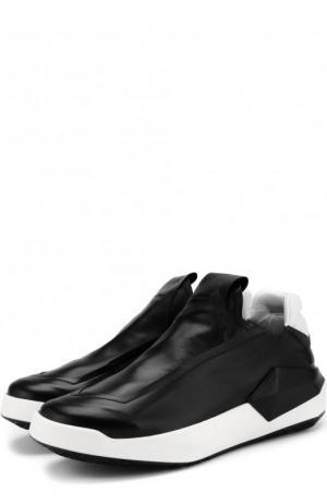 Кожаные кроссовки без шнуровки Cinzia Araia. Цвет: черный