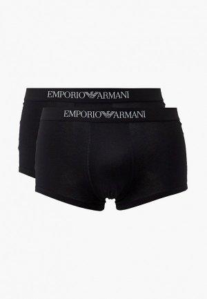 Трусы 2 шт. Emporio Armani. Цвет: черный
