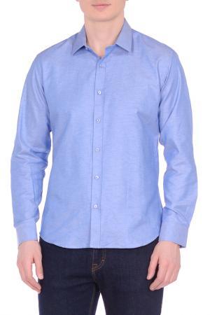 Рубашка KarFlorens. Цвет: голубой