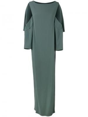Платье Open Sleeve Chalayan. Цвет: зелёный