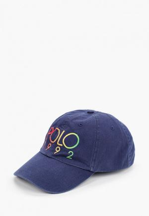 Бейсболка Polo Ralph Lauren. Цвет: синий