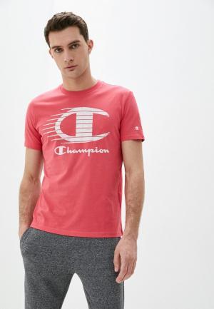 Футболка Champion. Цвет: розовый